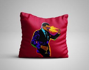 Kanye West Pop art  Throw Pillow, Decorative Pillow, Dorm Decor, Rap Lyrics, Kanye West, Yeezy, Yeezus, hip hop, pillow cover, pillow insert