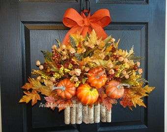 fall wreaths Thanksgiving wreaths for front door wreaths decor decorations front door wreaths Thanksgiving wreath harvest decor