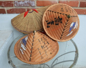Vintage Asian, Oriental Straw Hats