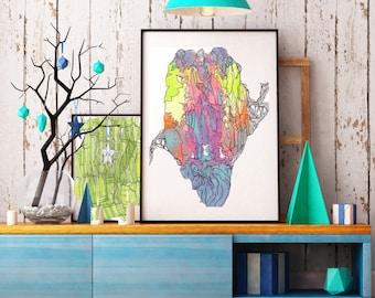 Art Prints - Gouche Geodes