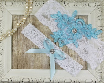 Wedding Garter, Customizable Lace Wedding Garter Set , Ivory Lace Garter Set, Toss Garter , Bridesmaid Gift, Prom, Wedding Gift