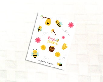 Busy Bee Deco Sticker Sheet for Your Planner, Summer Picnic