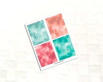 Emerald Garden Watercolor Header Planner Stickers, Vinyl Stickers, Spring