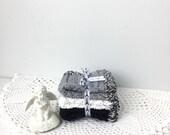 Paris at Night Crochet Washcloths - Crochet Dishcloths - Hand Crocheted Bathroom Washcloths - Eco Friendly