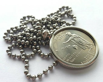 Hawaii State Quarter Coin Necklace with Stainless Steel Ball Chain or Key-chain - 2008