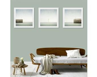 Triptych Wall Art, Triptych, Minimalist Ocean Art, Made in Ireland, Print Set, Set of 3, Wall Art Print Set, Beach House Decor