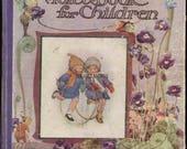 Antique Reading Book Illustration Digital Image Download Printable Violet Book