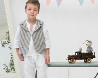 Boys shorts Toddler boy linen pants Natural linen by mimiikids