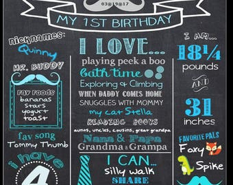 customizable and personalized birthday milestones poster
