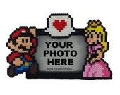 Mario and Princess Peach Picture Frame - Couples Picture Frame - Nerdy Anniversary Gift - Nerdy Wedding Gift - Video Game Wedding