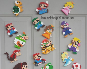 Mario Magnets - Super Mario Magnets - Mario Kitchen Decor - Mario Locker Decoration