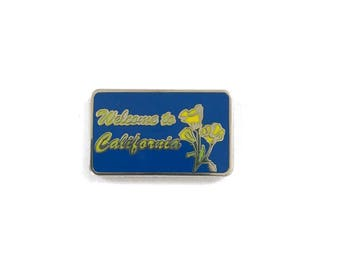 Welcome to California Sign / New Hard Enamel Lapel Pin or Hat Pin