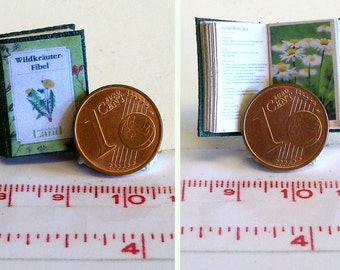 "1031# German Miniature book ""Wildkräuterfibel""  - Doll house miniature in scale 1/12"