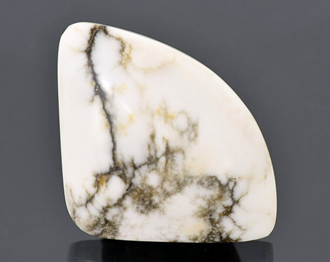 FLASH SALE Interesting White Howlite Cabochon from Nevada 54.33 cts.