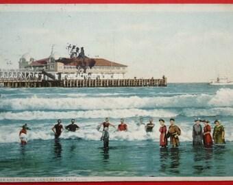 Long Beach, California, Pier & Pavilion, 1920, Vintage Bathing Suits