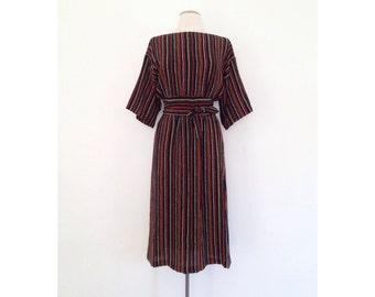 rayon kimono dress striped kaftan dress dina louise boat neck midi dress minimalist kimono sleeve boatneck