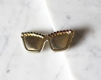 1980s sunglasses brooch // 1980s sunglasses pin // vintage brooch