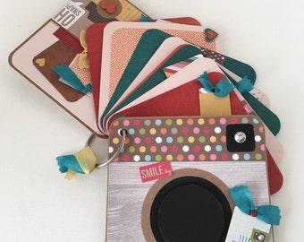 Life Mini Photo Album, Camera Shaped, Scrapbook 5x5 Album, Family, Friends - Everday Photo Album, Colorful Mini Album