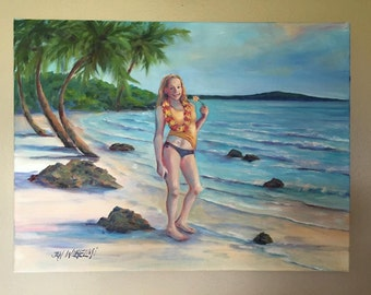 Your commissioned landscape or simple figurative painting, made to order, oil on canvas, various sizes, original painting