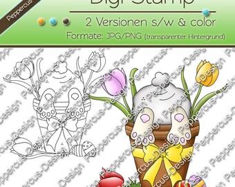 Digi stamp set - Bunny looks / E0140