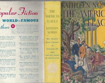 The american flaggs by kathleen norris 1939 great dust jacket art! 1937 dial press