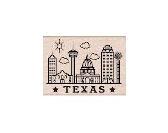 Hero Arts - Destination Texas - Woodblock Stamp - H6170
