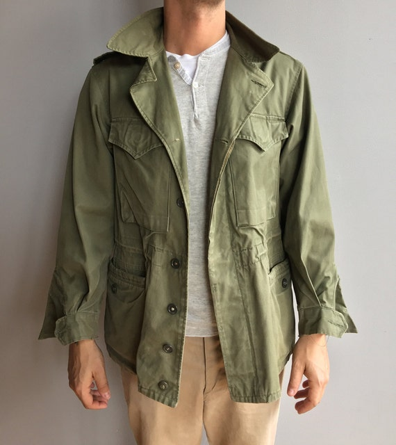 Faded M-1951 Olive Green Field Jacket with four front pockets