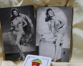 Vintage Pin Up Cards - Mutoscope Style