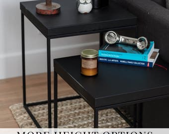 Side tables Industrial table minimalist furniture Loft table End Table Night Stand Minimal coffee table Bedside table black side table #pcd4