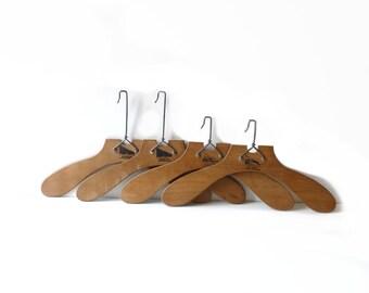 Vintage Wooden Hangers Stamped Innovation Paris Set of 4 Vintage Wooden Clothes Hanger Home Decor Shop Decor