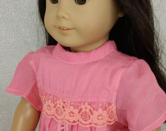 American girl doll, dress , holiday dress, pink dress, Christmas dress,