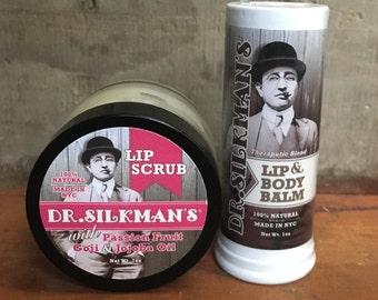 Lip Scrub & Lip Balm Set- All Natural Handmade Goodness, Discounted!