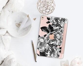 Platinum Edition Black Rose Quartz with Rose Gold Smart Cover Hard Case for iPad Air 2, iPad mini 4 , iPad Pro , New iPad 9.7 2017