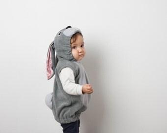 Pink Rabbit Costume, Bunny Halloween Costume, Party Costume in Pink, Halloween Costume for Boys or Girls, Toddler Costume, Woodland
