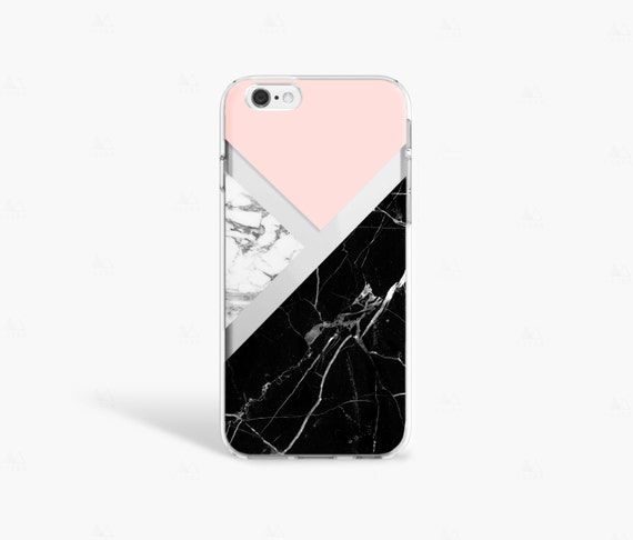 Black Marble IPhone 7 Case Clear 8 Plus