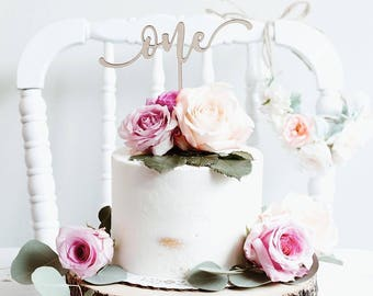 First Birthday Cake Topper, One Cake Topper,  Number Cake Topper, Happy Birthday Cake Topper, Custom Birthday Cake Topper, DIY Cake Topper