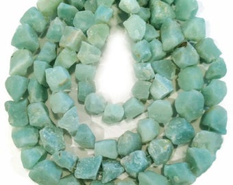 Amazonite rough nuggets.  Approx.  12x12mm - 14x14mm.  Select a quantity.