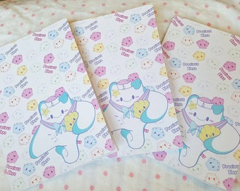 A5 Pastel Sting Ray Notebook | Precious Bbyz Kawaii Ocean Sting Ray Notebook for school, work, and more!