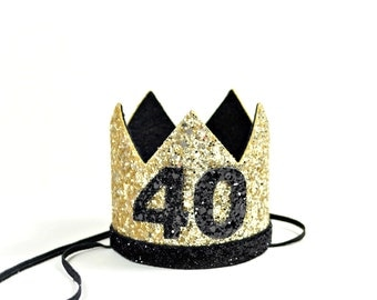 Adult Party Hat || 40th Birthday Crown || Adult Birthday Crown || Over The Hill Birthday || Adult Birthday || Customize Any Number