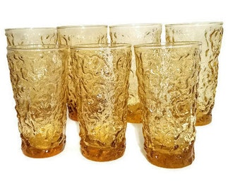 Anchor Hocking Milano Lido Drinking Glasses Seven 12 Ounce Tumblers