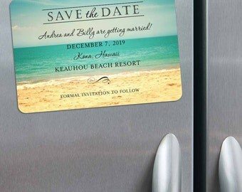 Kona - Magnet - Save the Date + Envelopes