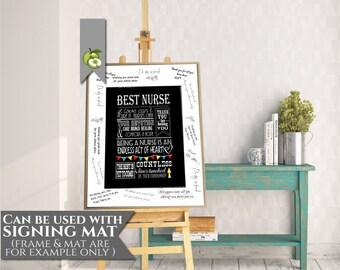 Nurse appreciation week, retirement art, printable, Best wishes, Keepsake, Typographic art,  DIY printable,  great nurse inspirational