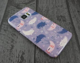 Fatsolotls Cute Fat Axolotl Animal Patterned Samsung Galaxy S7 / S7 Edge Phone Case