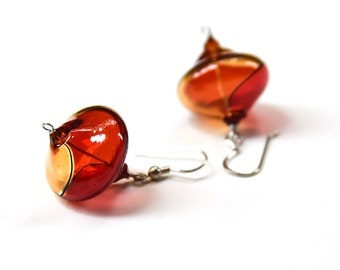 Blown glass jewelry, Blown glass earrings, Mom gift, Grandma gift, Teacher gift, Girlfriend gift, Friend gift, Under 30, Crystal earrings