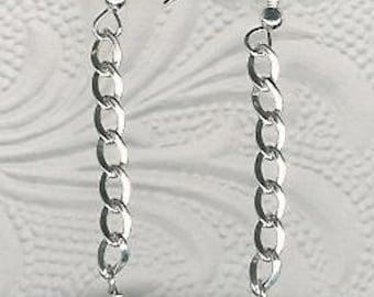 Earrings - OOAK Rutilated Quartz, Sterling Silver Long Dangle Statement