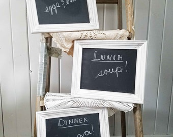Farmhouse Style Chalkboards ~ Set of 3 ~ Rustic Cottage Shabby Chic Style Home Decor