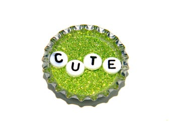 NEW Bottle Cap Magnet - Cute - Single Magnet