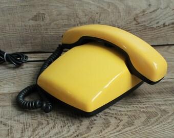 Vintage Soviet  telephone / Spectr-3  1987 year / Interior Design Made in USSR Vintage Factory Intercom / vintage phone Old Dial Desk Phone