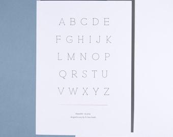 Typography - Letterpress Print