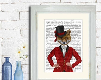 Fox picture  - Vixen Lady Hunter 1 portrait - Fox portrait fox print fox hunter fox hunting woodland print woodland picture wildlife print